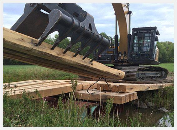 Crane Mats Crane Digging Mats Northern Mat Amp Bridge