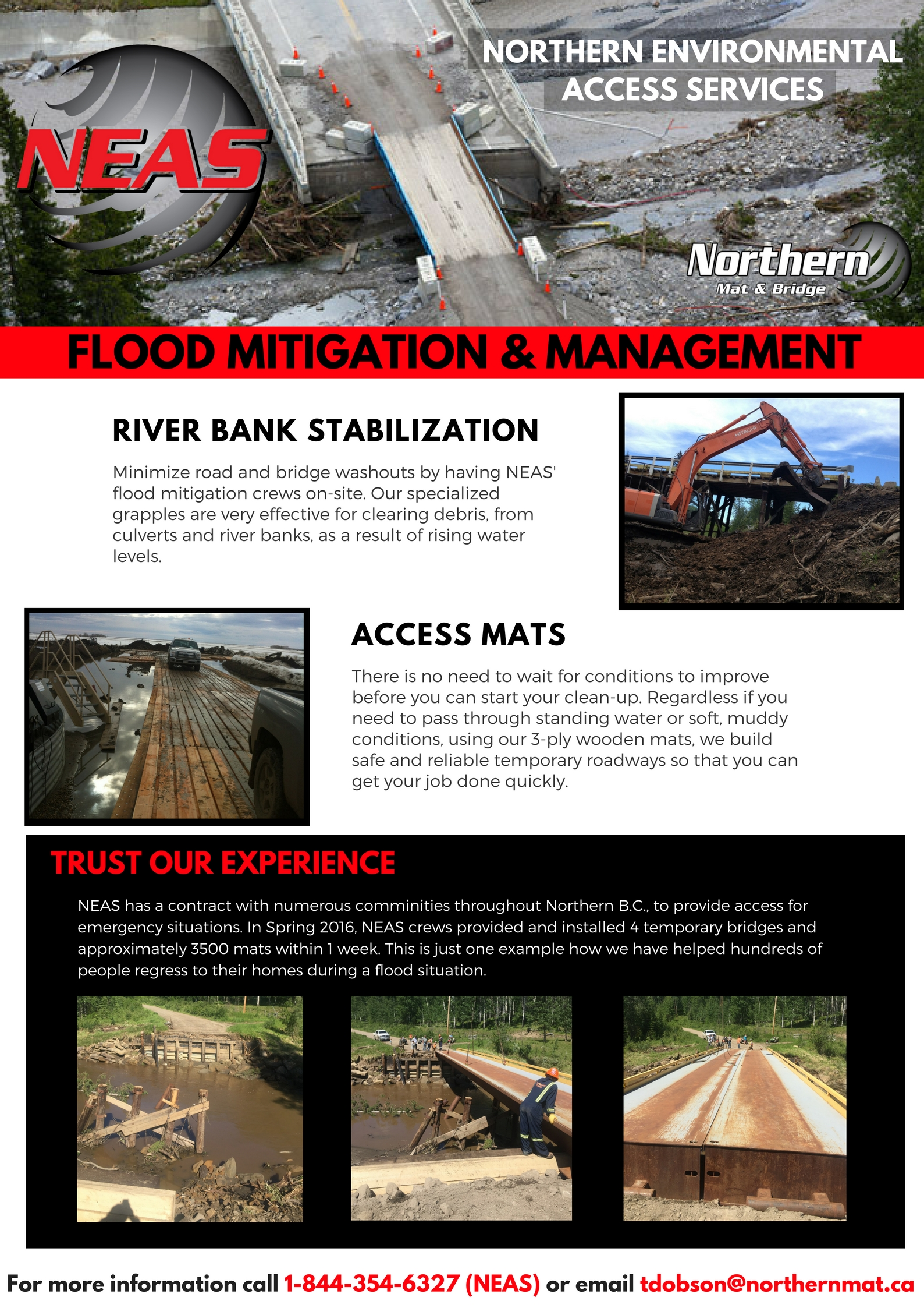 Flood Mitigation and Management Full Page - Northern Mat and Bridge