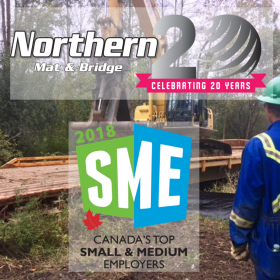Northern Mat & Bridge LP awarded one of Canada's Top Small & Medium Employers for 2019