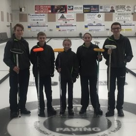 U-15 Dawson Creek Curling Champions!